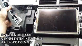 Range Rover Evoque Audio Dash Remove & GPS Installation - From Melbourne.