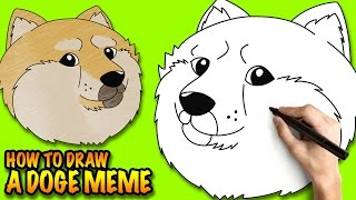 How to draw a Doge Meme (Shiba Inus) - Easy step-by-step drawing tutorial