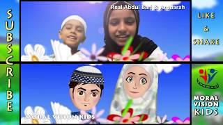 Abdul Bari & Ansharah cartoon on Har cheez banane wala kids song rhyme
