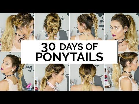 30 Days Of Ponytails!