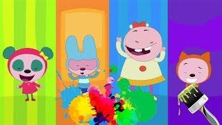 Kare Takımı çizgi film karakterleriyle   Renkleri öğreniyorum