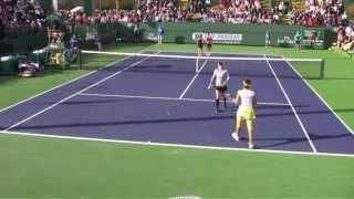 [8] Mattek-Sands/Mirza vs. Raymond/Stosur - 2013 BNP Paribas Open
