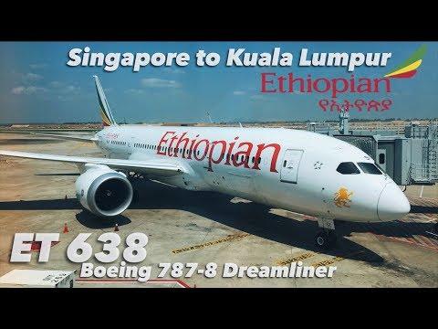 Singapore to Kuala Lumpur on Ethiopian Airlines Boeing 787-8 Dreamliner + Cockpit Visit!