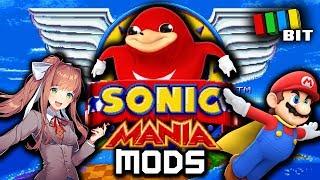 Sonic Mania MODS (Uganda Knuckles, Doki Doki Literature Club, Super Mario) [TetraBitGaming]