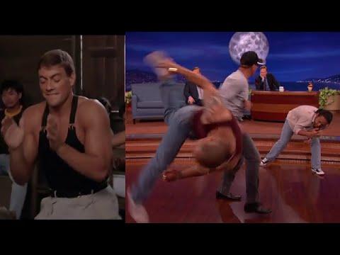 Jean Claude Van Damme RECREA PELEA Y BAILE de Kickboxer