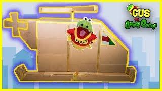 Helicopter Cardboard Crafts Box Fort Challenge!