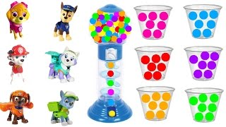 Best Learning Colors Video for Children: Paw Patrol Collect Gumball Game