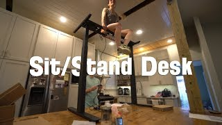 Adjustable Sit Stand Desk Assembly and Build -Electric Adjustable Height Desk