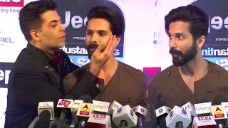 Watch What Karan Johar Does To Shahid Kapoor In Public