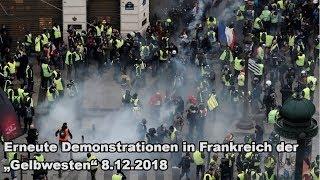 """Erneute Demonstrationen in Frankreich der """"Gelbwesten"""" 8.12.2018"""