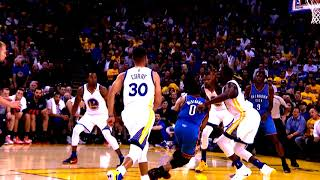 2016-17 Dubs Top Moments: Durant and Green Clog the Paint vs Thunder