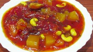 Bengali Sweet Tomato Chutney Recipe   টমাটো চাটনি   Khejur Amsatta Tomato diye Chutney