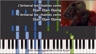 Dadju - Django - Karaoke / Piano synthesia tutorial (+ Paroles et partition)