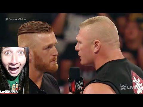 WWE Raw Brock Lesnar Takes Heath Slater to Suplex City