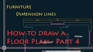 AutoCAD 2D Basics – Tutorial to draw a simple floor plan (Fast and effective!) PART 4
