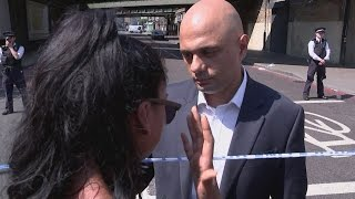 Finsbury Park attack: Heartbroken mum consoled by Sajid David