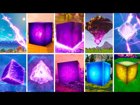Evolution of Kevin The Cube Fortnite Chapter 1 Season 1 to Chapter 2 Season 8