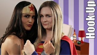 Cartoon Hook-Ups: Supergirl and Wonder Woman LIVE