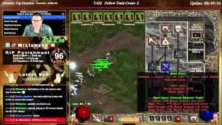 Diablo 2 - 8 MAN HARDCORE NECROMANCER SPEEDRUN!