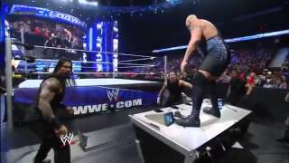 WWE The Shield Attacks Big Show Smackdown 9-13-13.mp4