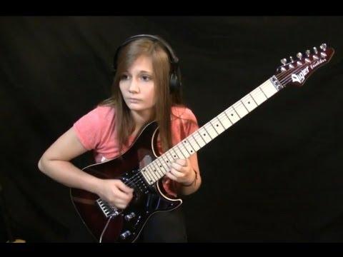 14 jährige Gitarristin rockt das Netz