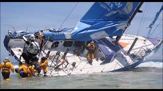 Dramatic footage of Team Vestas Wind's crash