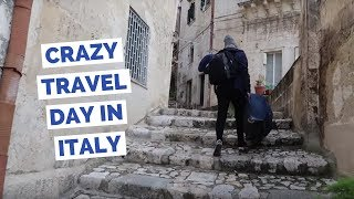 Crazy Travel Day in Italy taking trains and buses from Matera to Pompeii