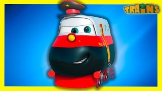 Train For Kids. Trains Kids TV. Trains Cartoon Collection For Children