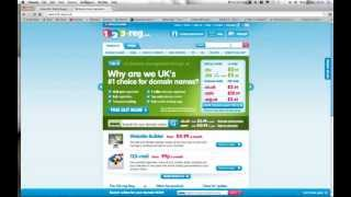 How to purchase a new internet domain name from 123-reg.co.uk site.