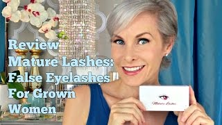 Mature Lashes: How To Wear False Eyelashes For Grown Women/ Two Ways