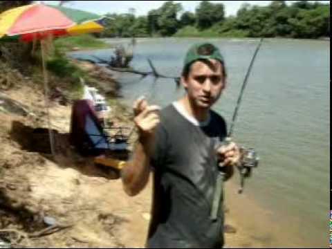 Instruções de pesca pescando curimba
