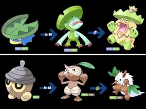 Pokémon  todas sus evoluciones y como