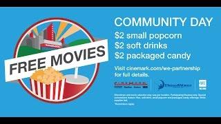 Cinemark Community Day is on 8/20/16!