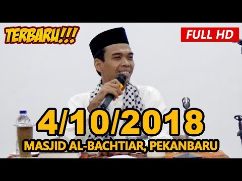 Ceramah Terbaru Ustadz Abdul Somad Lc, MA - Masjid Al-Bachtiar, Tenayan Raya