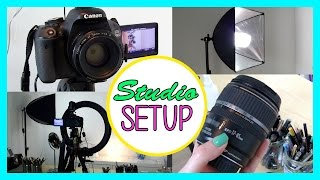 My Lighting, Camera & Studio Setup: How to Create Great Videos!
