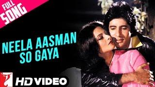 Neela Aasman So Gaya (Male) - Full Song HD | Silsila | Amitabh Bachchan | Rekha