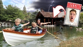 Exploring Abandoned HAUNTED BOATHOUSE for Hidden Clues!! (DAD IS MISSING!)