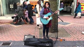 16 Y/O street singer with amazing voice