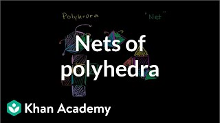 Nets of polyhedra | Perimeter, area, and volume | Geometry | Khan Academy