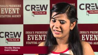 Vironika Sharma, Event Hostess on Event Staffing