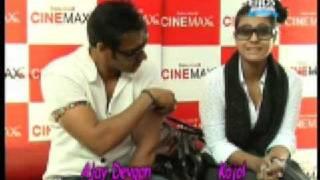 Ajay Devgan Kajol at JUMBO Special Screening