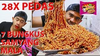TRAGIS!!! MUKBANG 7 PACKS SAMYANG MALA SUPER PEDAS | 28X LEBIH PEDAS