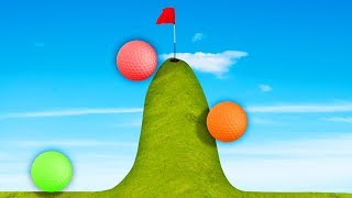 98% IMPOSSIBLE UPHILL CHALLENGE!? (Golf It)