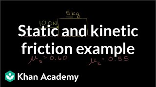 Static and kinetic friction example | Forces and Newton