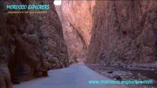 Todra Gorge - a drive between the 300 mt tall cliffs