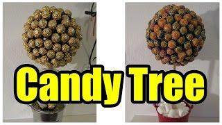 Naschbaum basteln Candy Tree selber machen DIY - Vlog #138