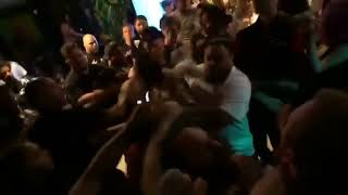 fight in mosh pit at Chicago hardcore show
