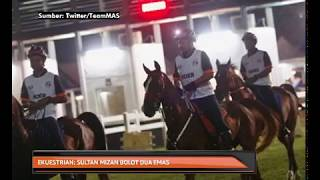 Ekuestrian: Sultan Mizan bolot dua emas