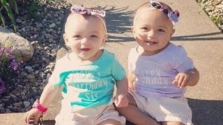 Famous Twins With Different Skin Colors Adorably Celebrate Their First Birthday
