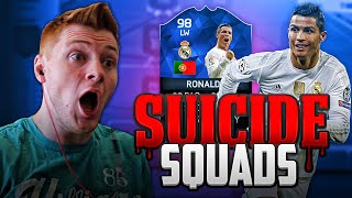 FIFA 16 - INSANE 98 TOTY RONALDO SUICIDE SQUADS!!!